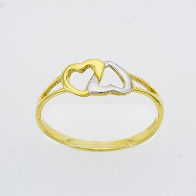 Hjerter to farget ring