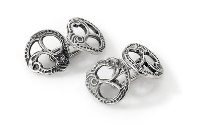 Mansjettknapper i sølv