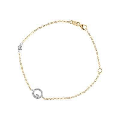 Cirkel armlenke gull
