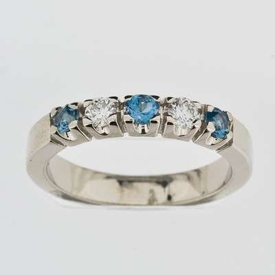 Allianse ring 0.20ct wsi/Topas
