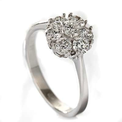 Ring rosett 1.00ct Wp1