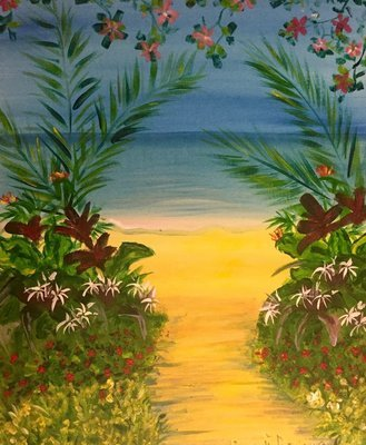 Original Painting – Path to Secret Beach