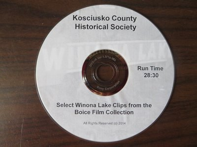 DVD of Winona Lake early days from old film