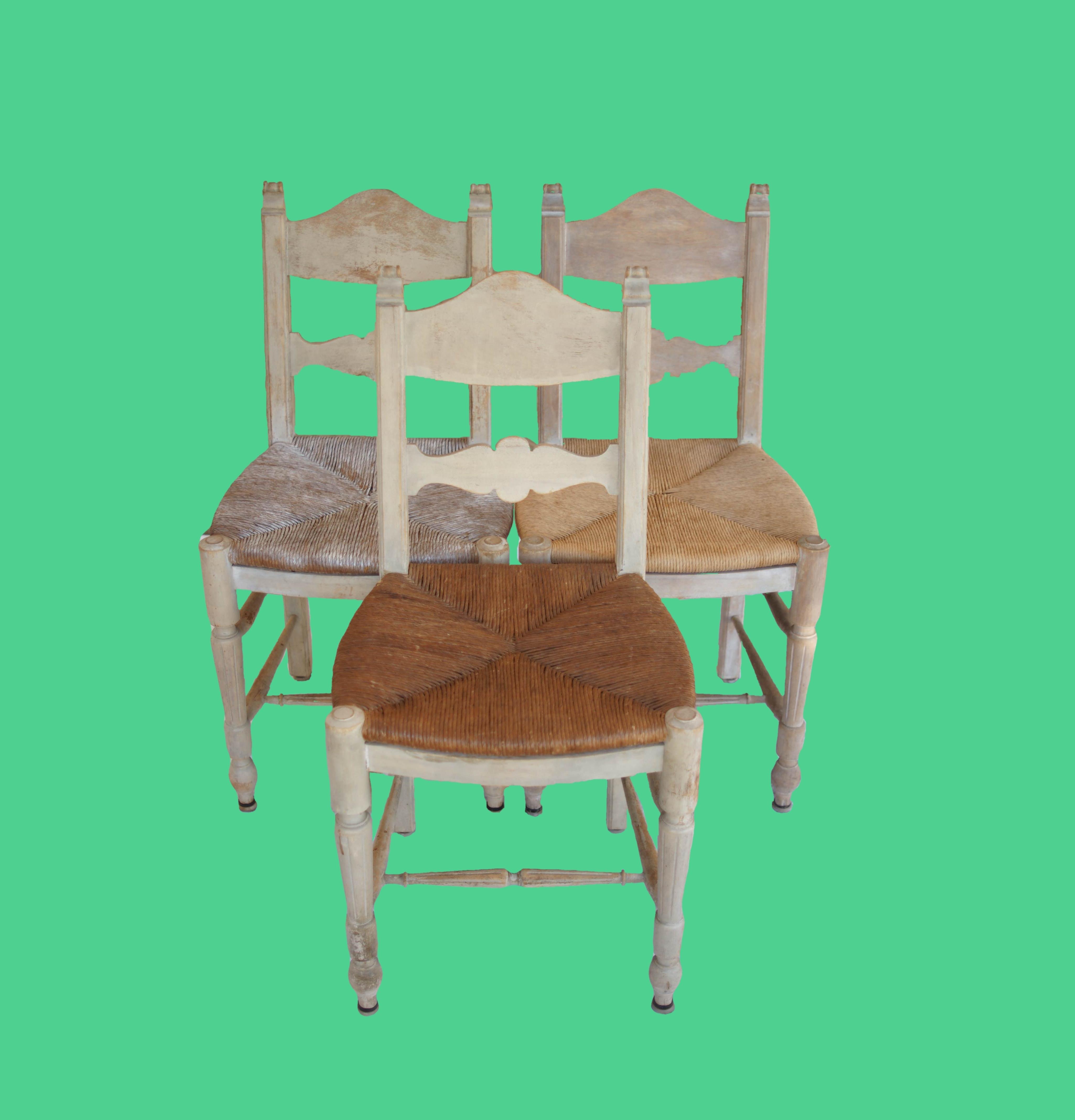 3 Rush Chairs - 2