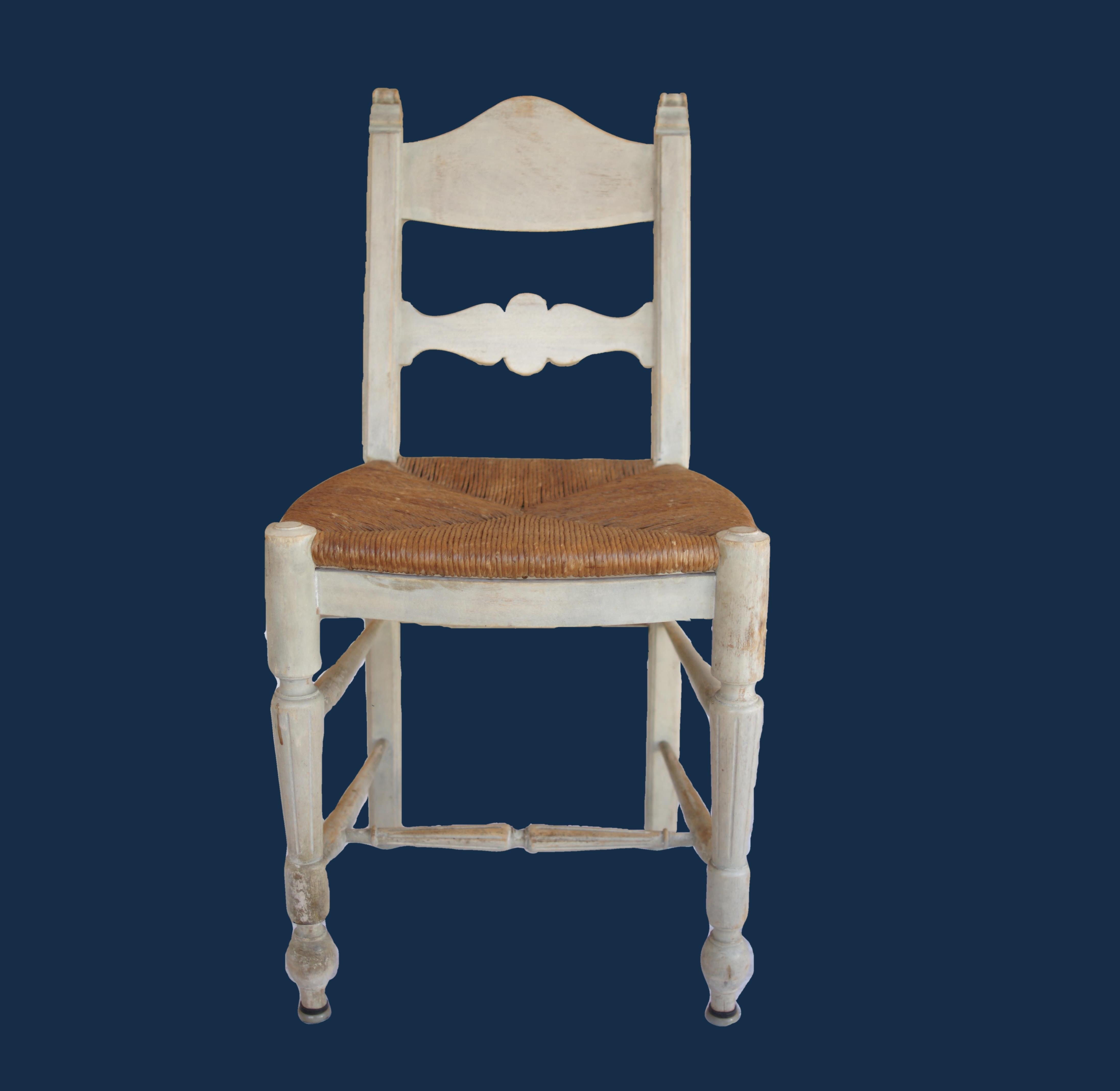 3 Rush Chairs - 3