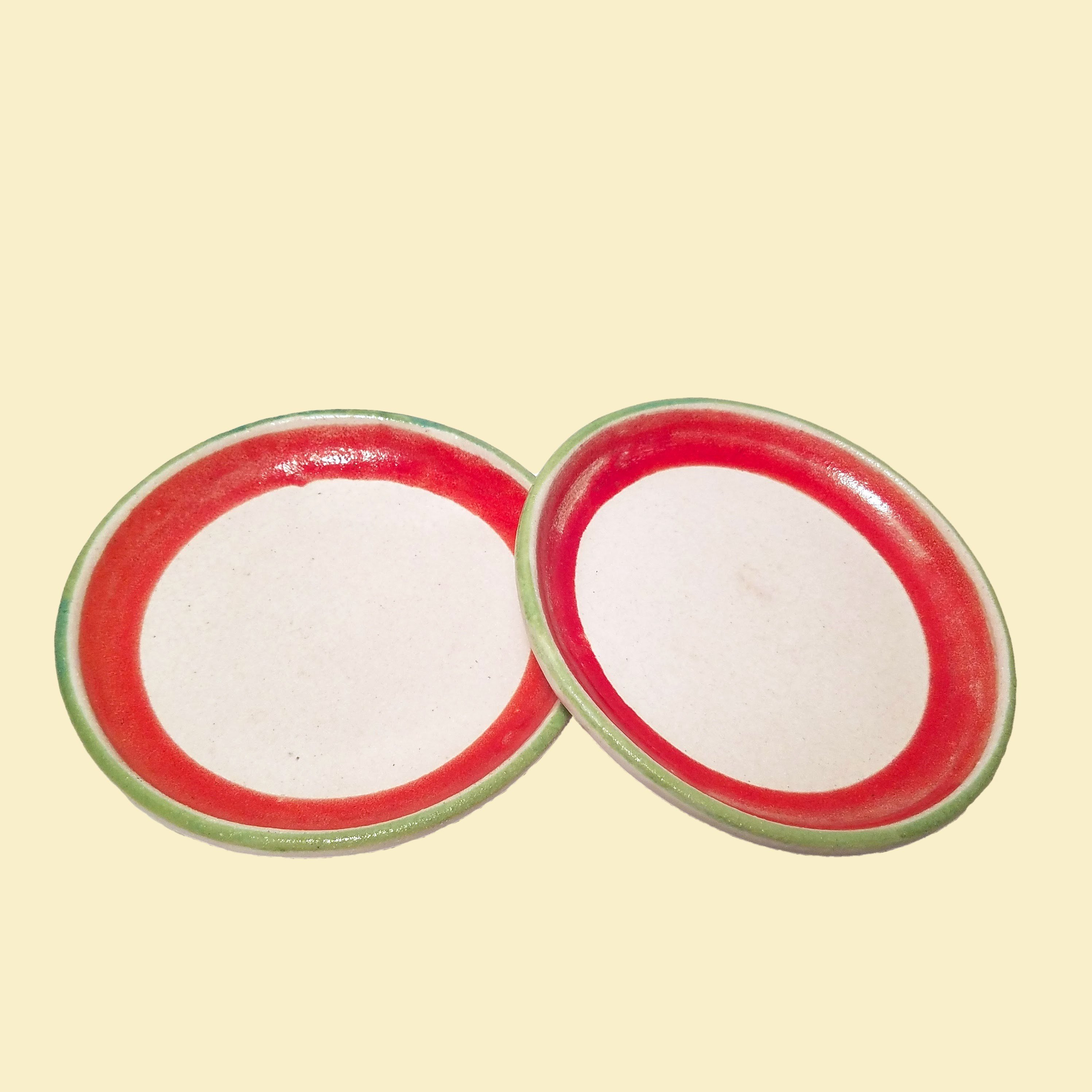 20% OFF - Desimone Ceramics Small Majolica Plates Hand Painted