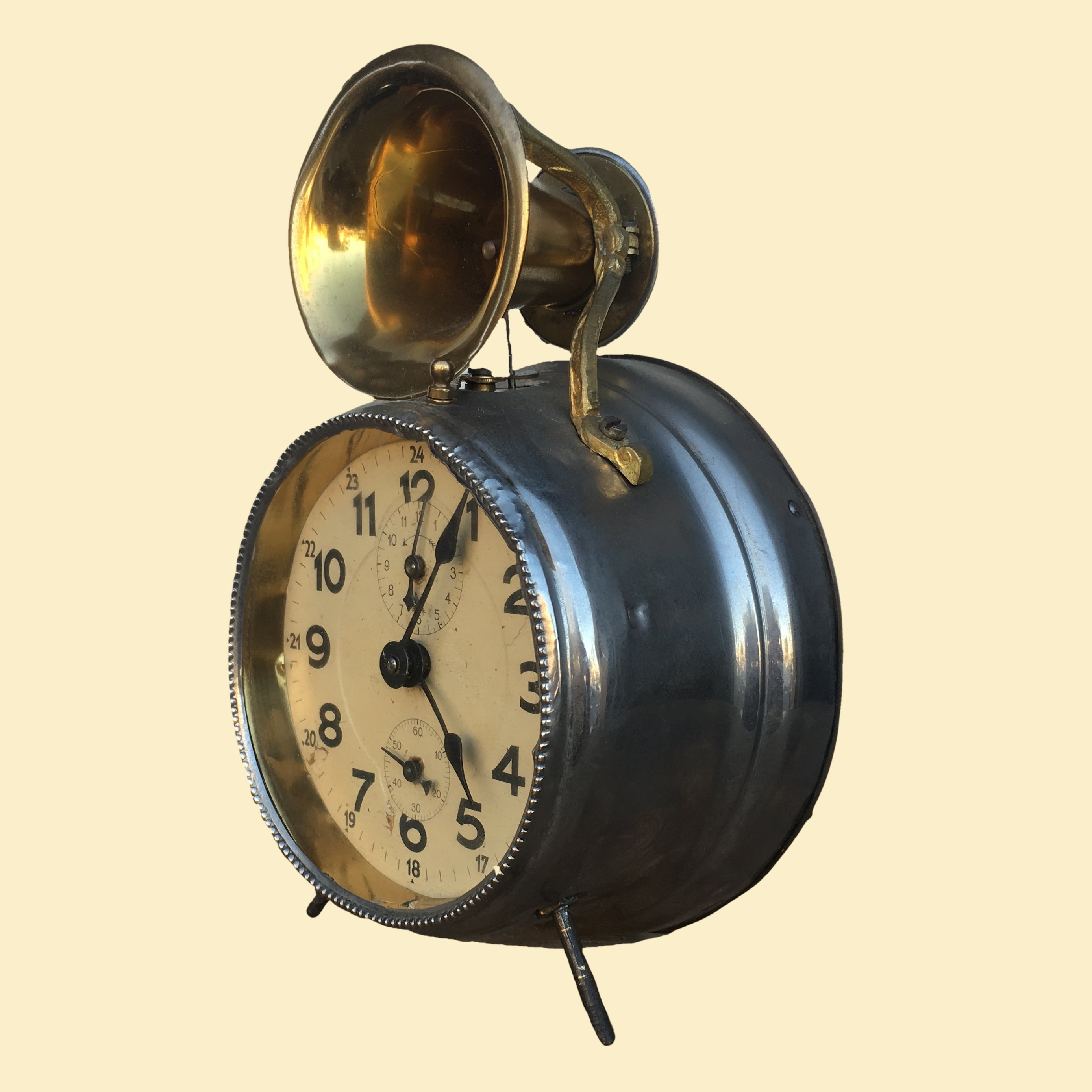 20% OFF - Antique Vintage Horn-Top Alarm Clock As Is 00203