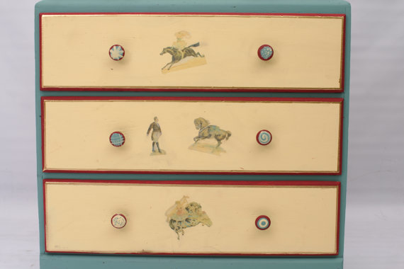 20% OFF -Circus-Themed Painted Dresser with Transfers Kids Room