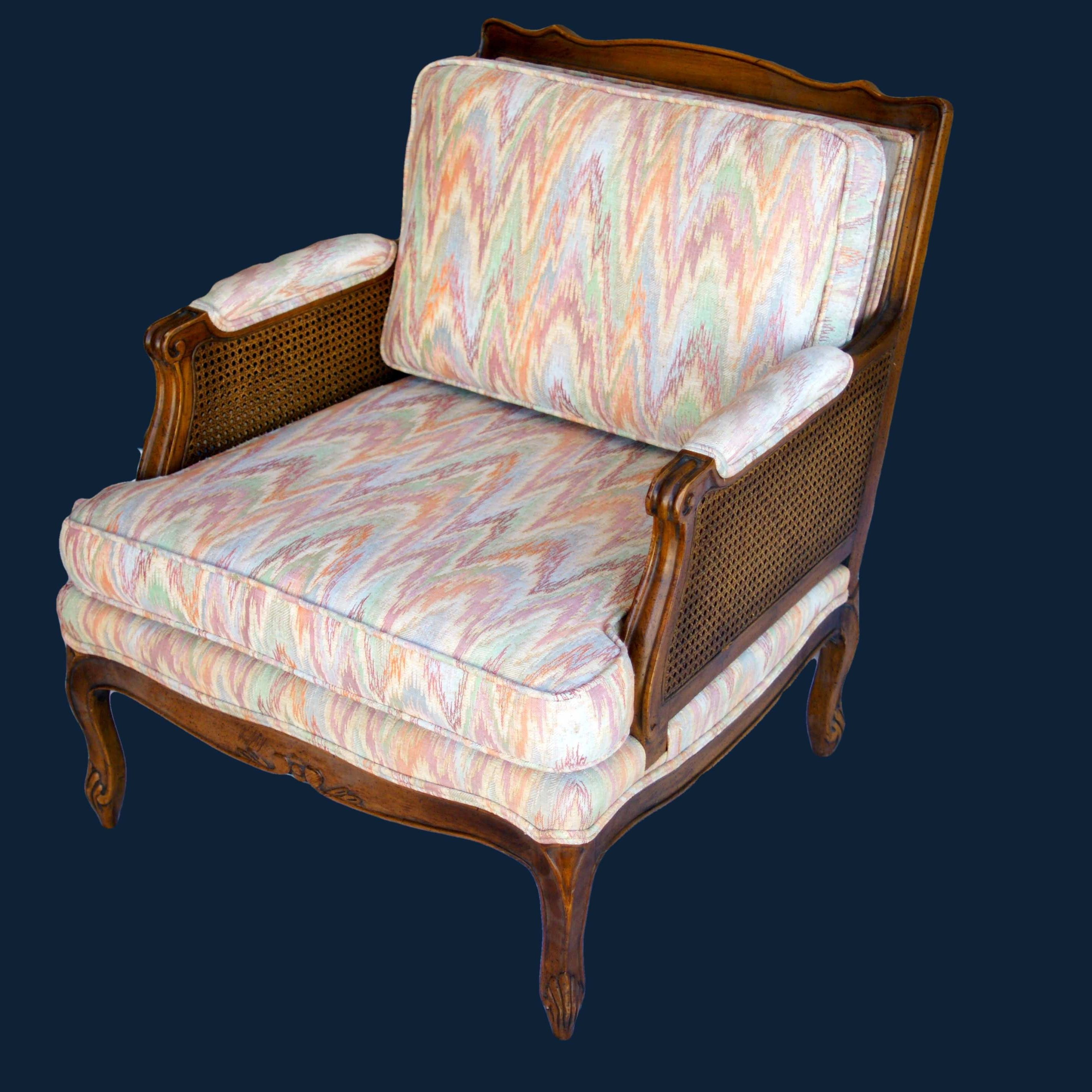Vintage Double Caned Chevron Chair