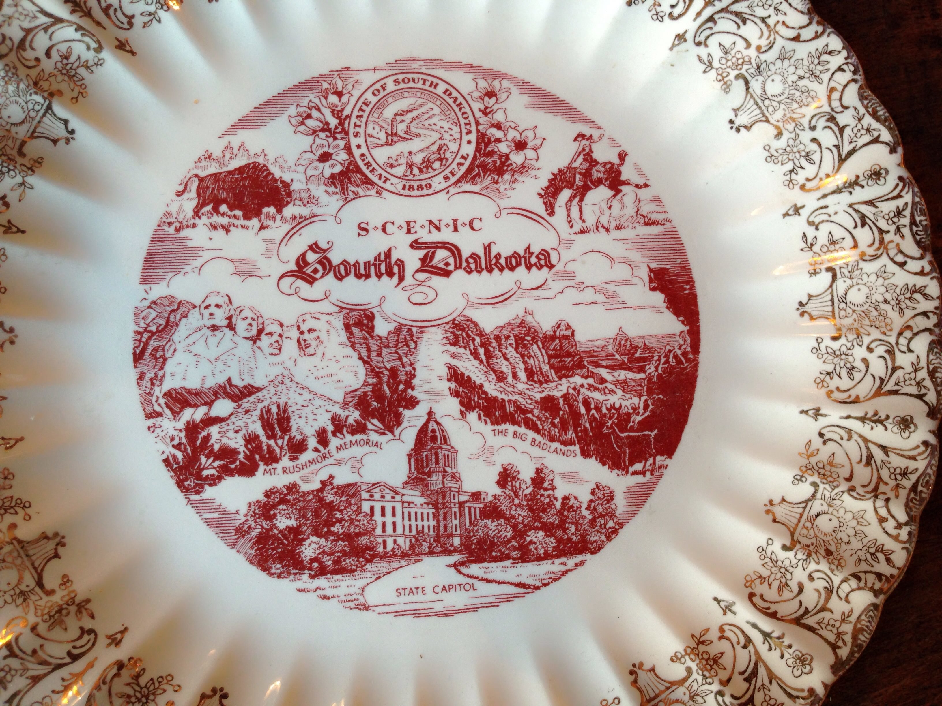 South Dakota Vintage Plate