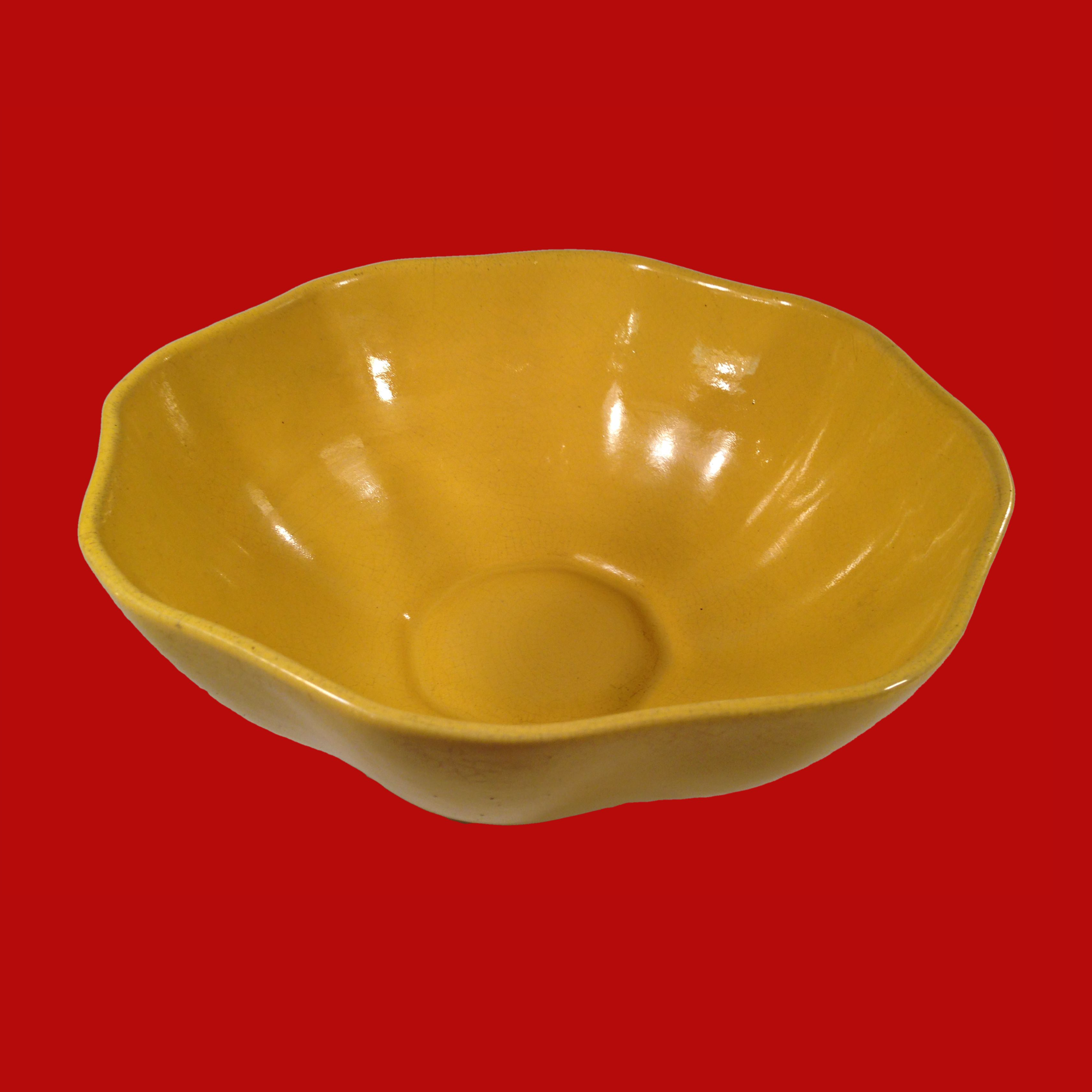 20% OFF - Padre Pottery Yellow Bowl California Pottery 00124