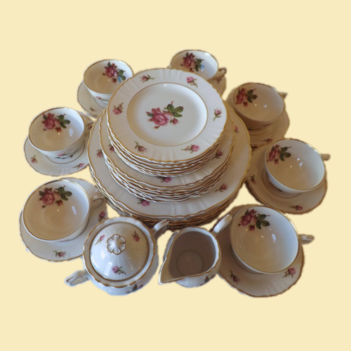 Syracuse Victoria China Svc for 8 - Rose Pattern