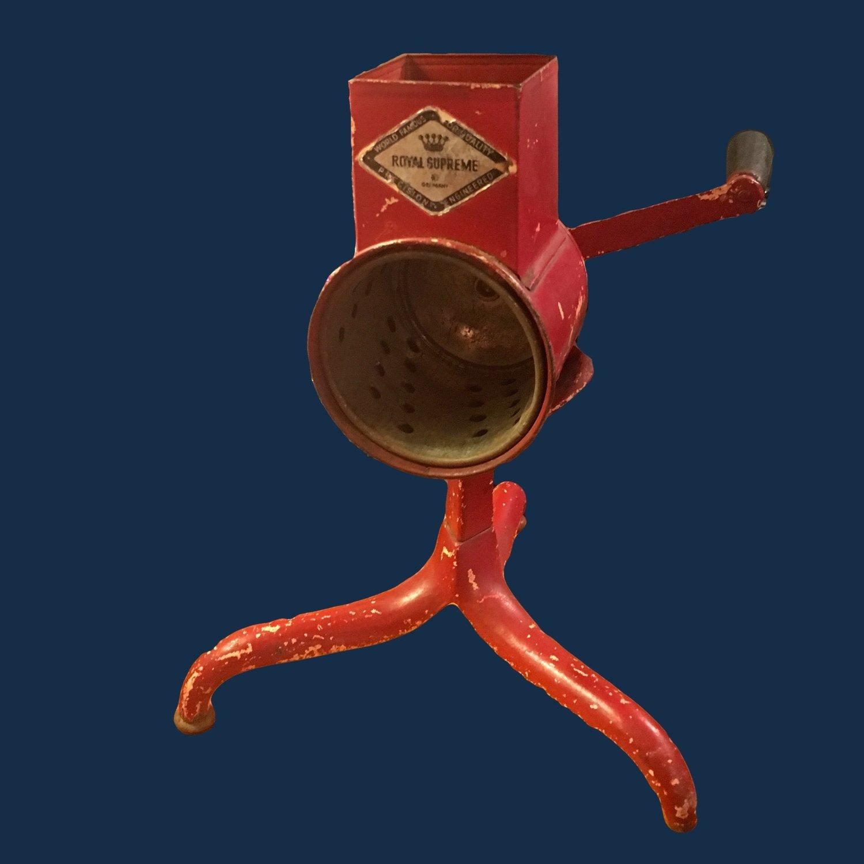 Royal Supreme Food Grinder Red Tripod Kitchen Decor