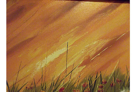 """20% OFF - Field of Daisies Oil Painting - Signed """"Searing"""""""