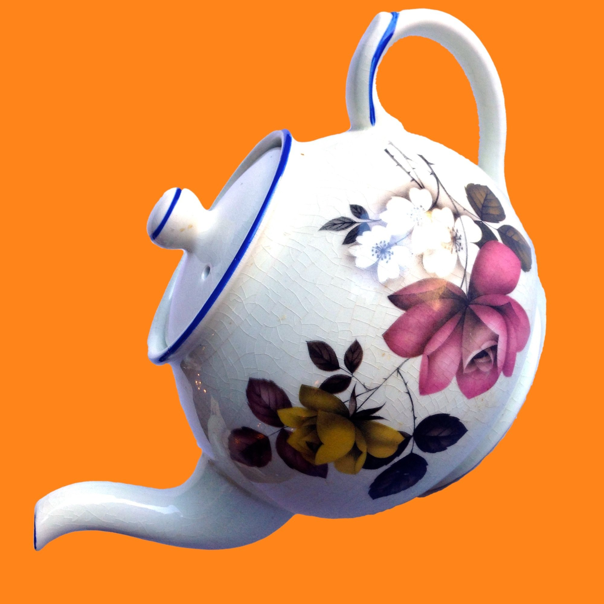 20% OFF - English Floral Teapot by Arthur Wood