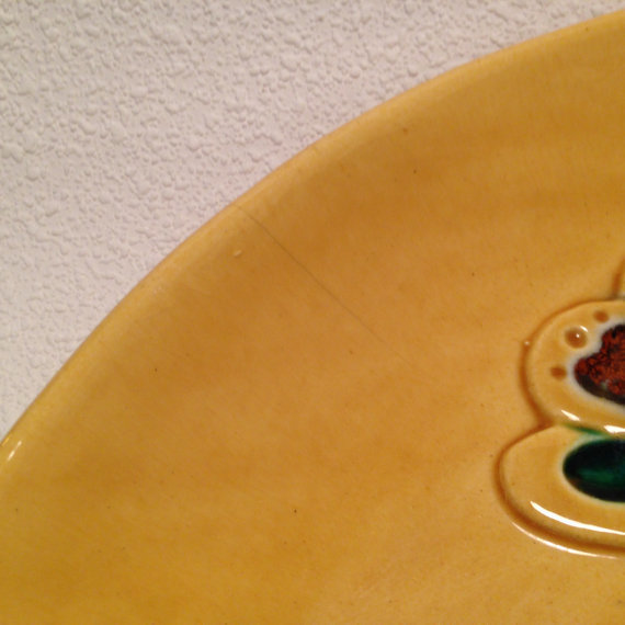 20% OFF - Mid Century Butterfly Serving Platter Marked Calif USA 1051