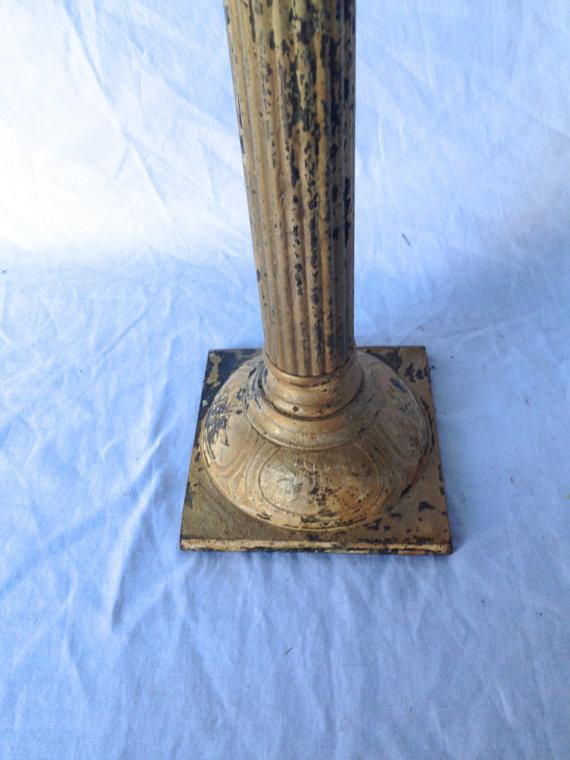 20% OFF - Tall Metal Pillar Candlestick