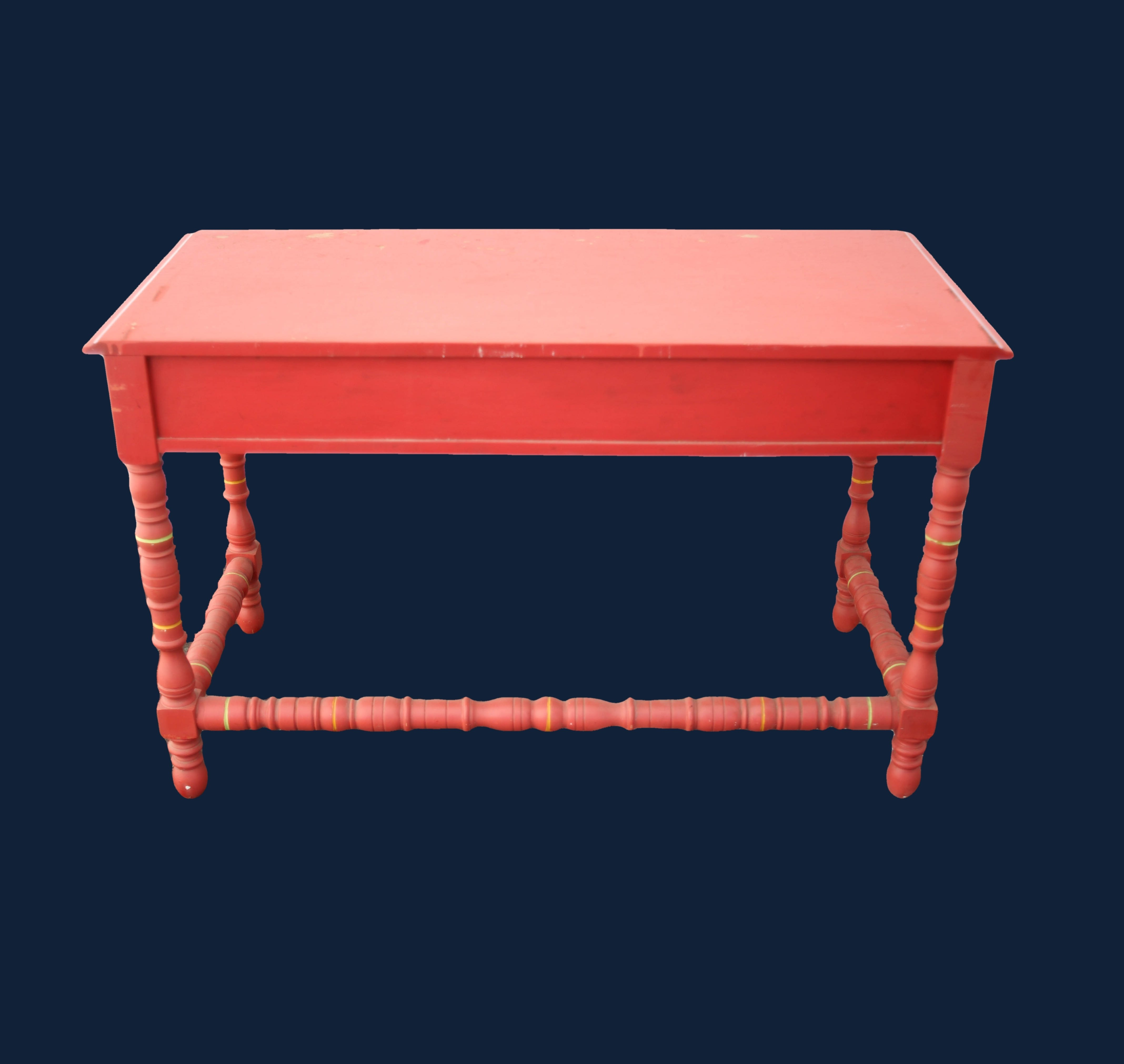 20% OFF -Painted Coral/Pink 1960's Desk Original Paint by Thomasville