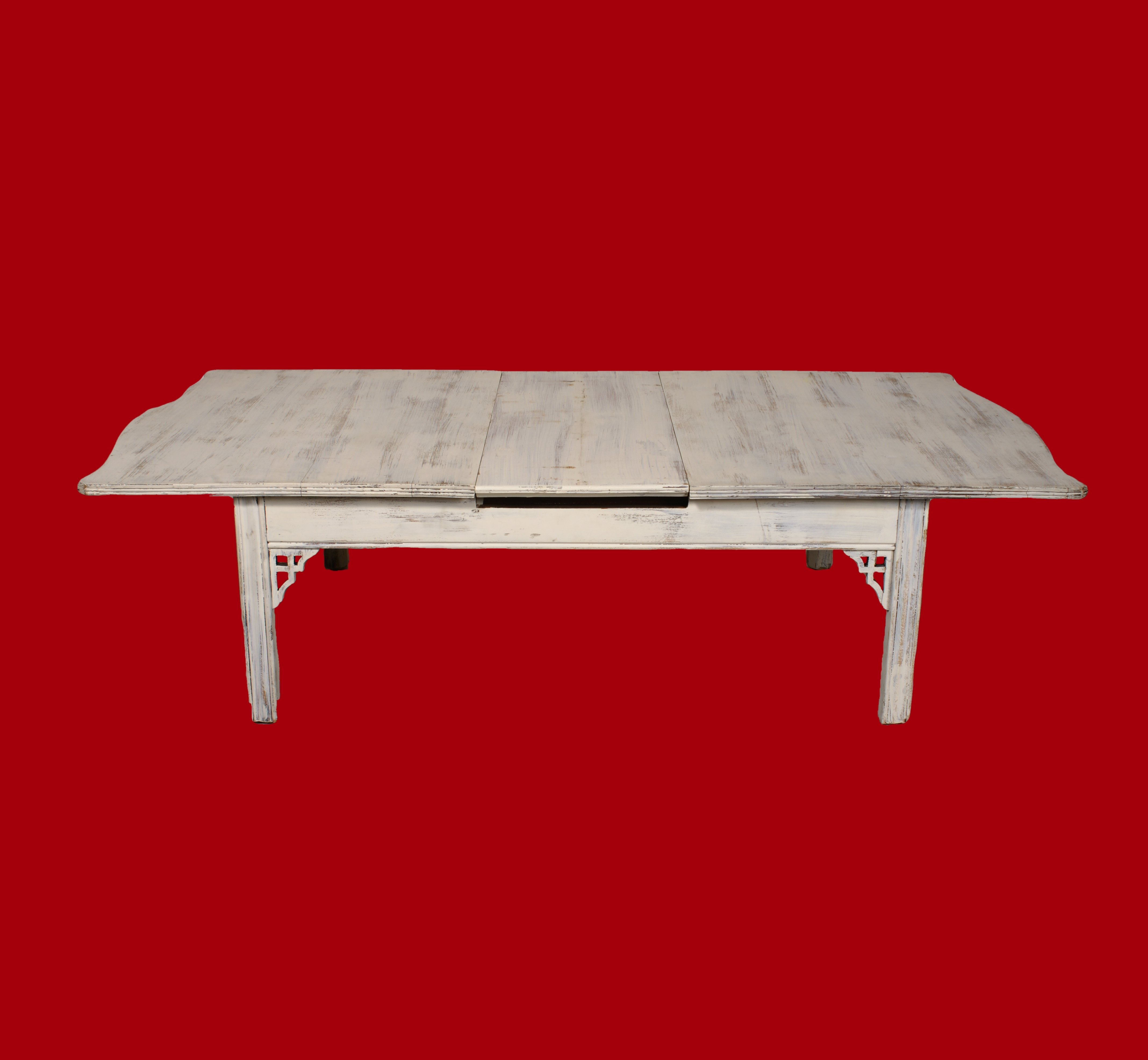 20% OFF -Large White Coffee Table with Extending Leaf