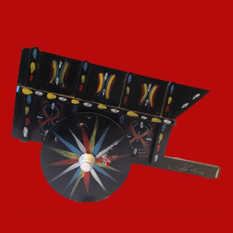 20% OFF - Boho Decor Napkin Holder Wooden Cart Costa Rica Souvenir 00120