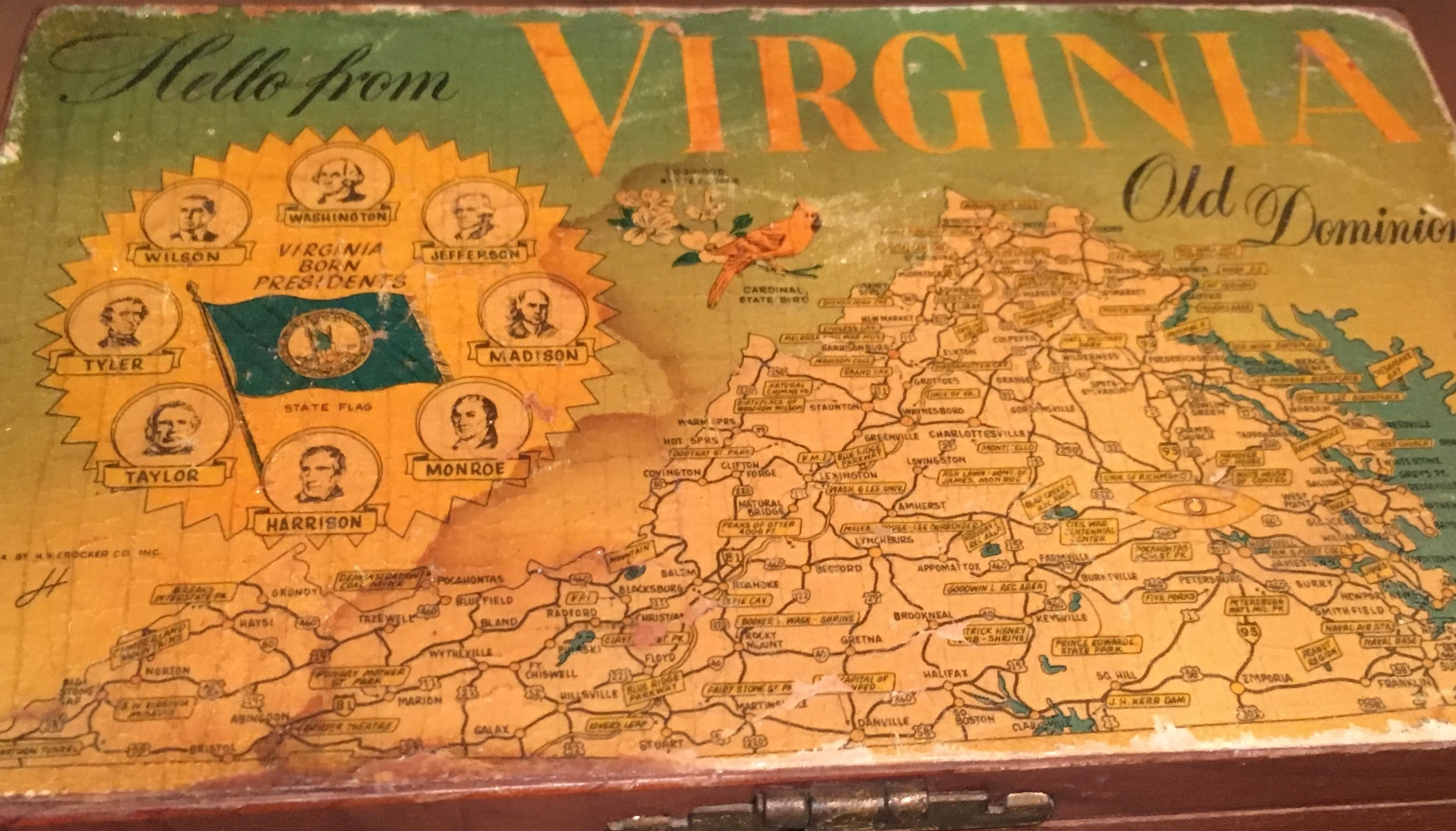 20% OFF - Virginia Souvenir Cedar Box