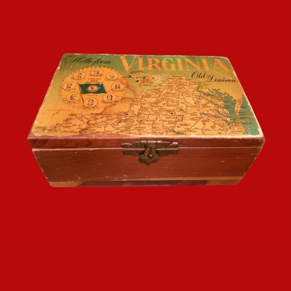 20% OFF - Virginia Souvenir Cedar Box 00329