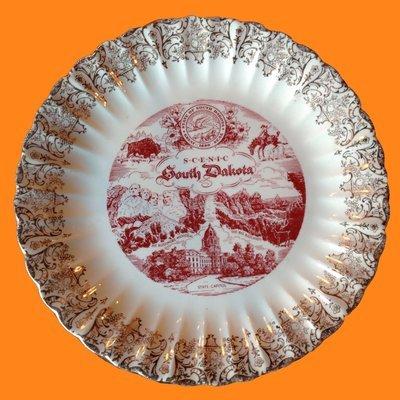 South Dakota Souvenir Place Plate State Plate Decor or Tableware