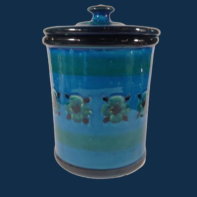 Italian Pottery Kitchen Canister with Lid