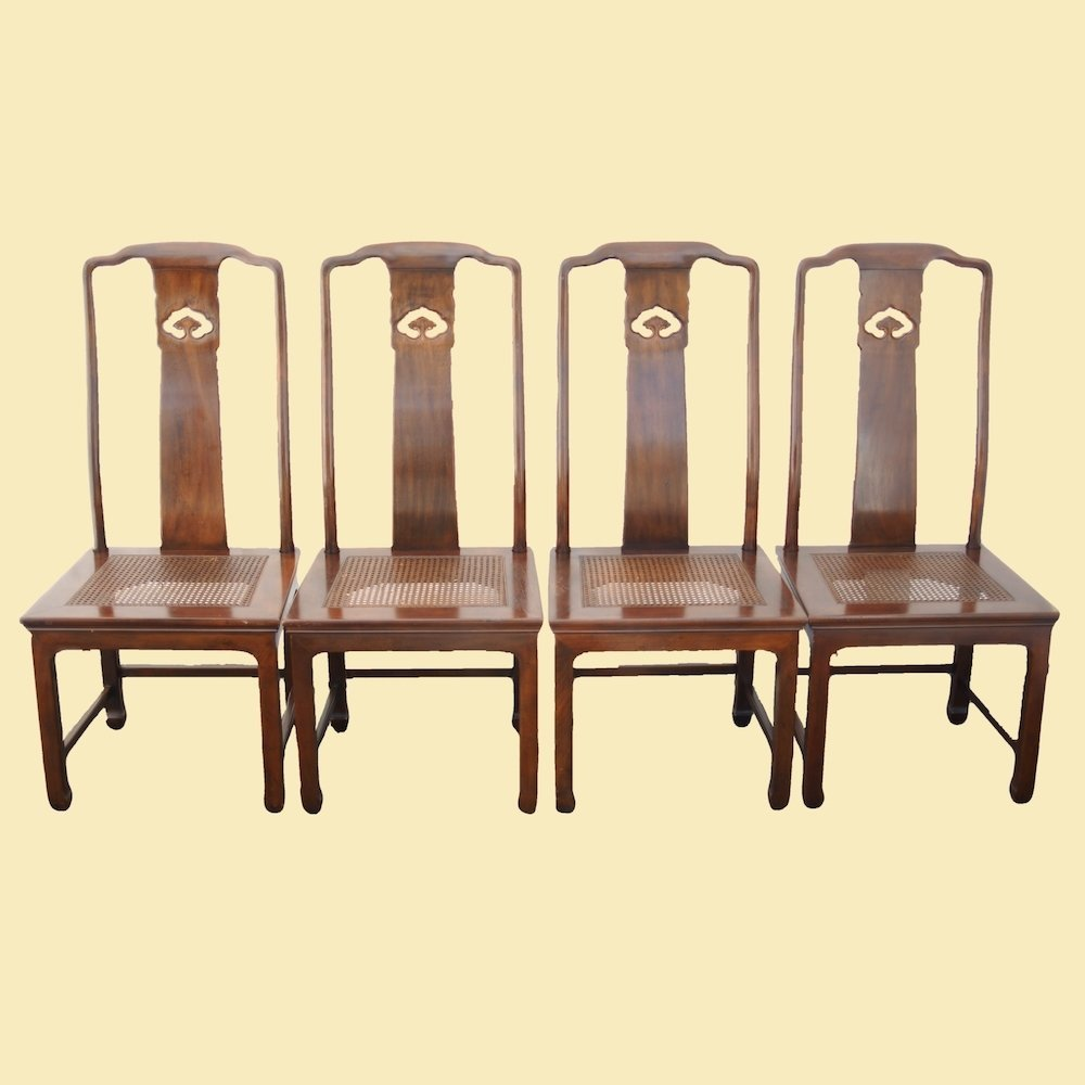 Swell Henredon Asian Style Caned Seat Chairs Set Of 2 Inzonedesignstudio Interior Chair Design Inzonedesignstudiocom