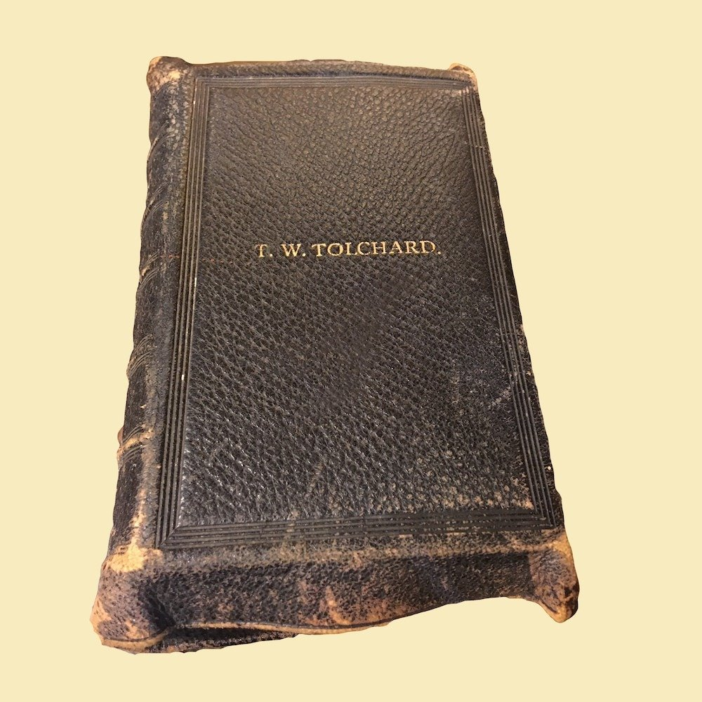 19th C. Bible Teacher's Edition Embossed T.W. Tolchard
