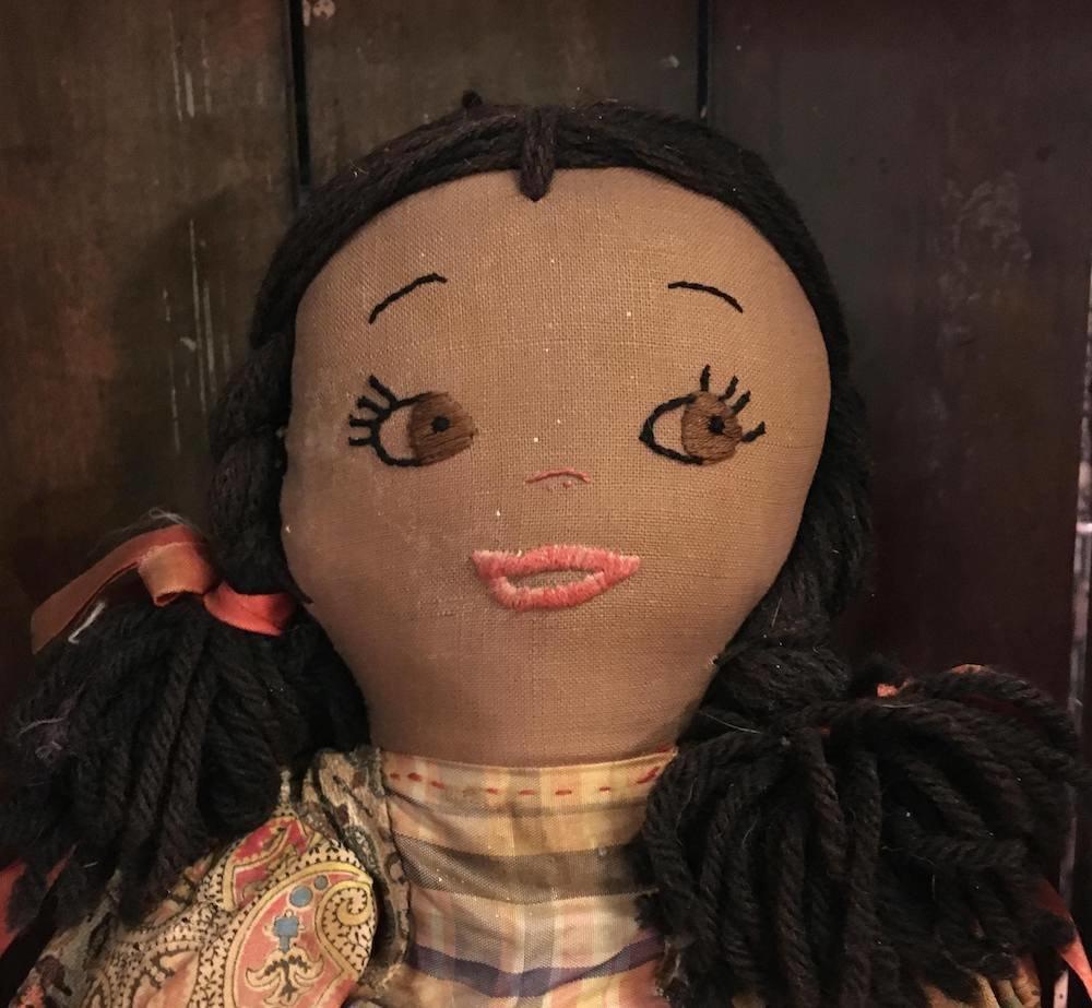 Vintage Handmade African American Bottle Doll Doorstop