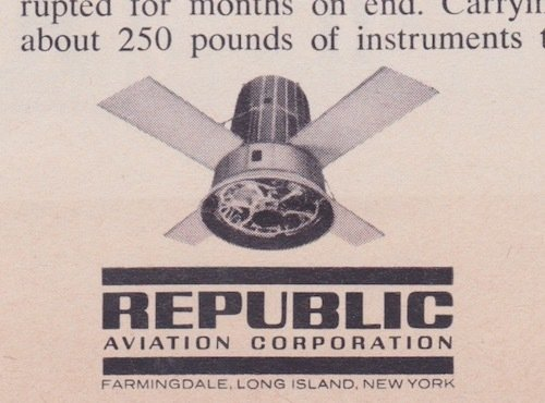 Republic Aviation Magazine Ad 1950's