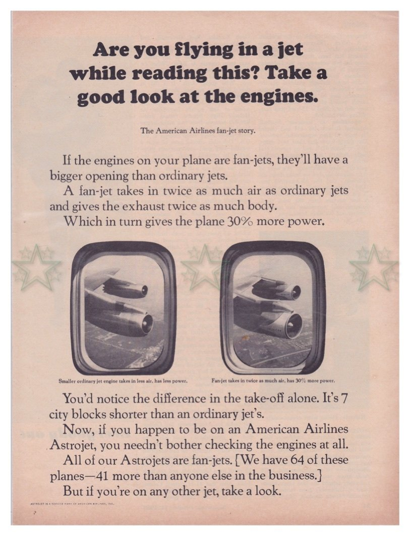 American Airlines Magazine Ad - Fanjets - Aviation - Original Ad