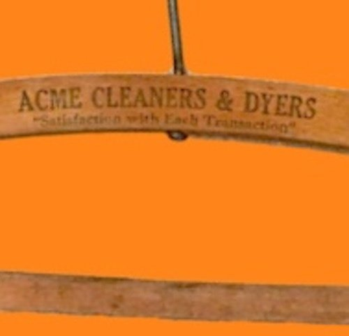 Acme Cleaners & Dyers Wooden Coat Hanger