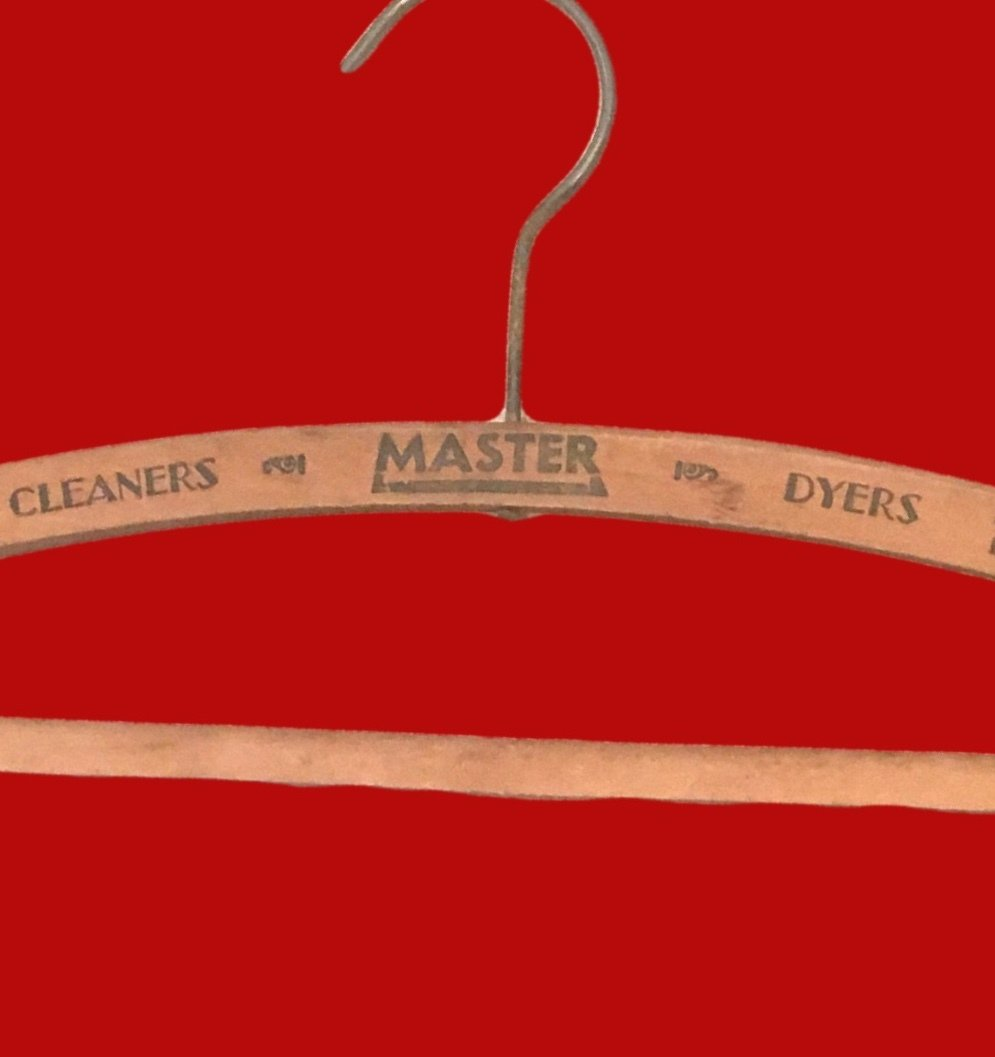 Vintage Master Cleaners & Dyers Wooden Coat Hanger