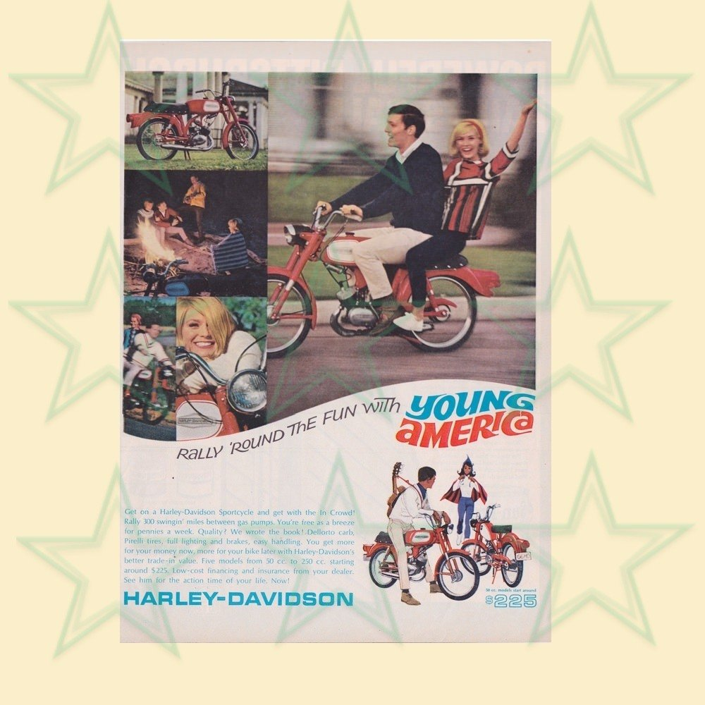 Harley Advertisement 1950's - Original Large Format Ad