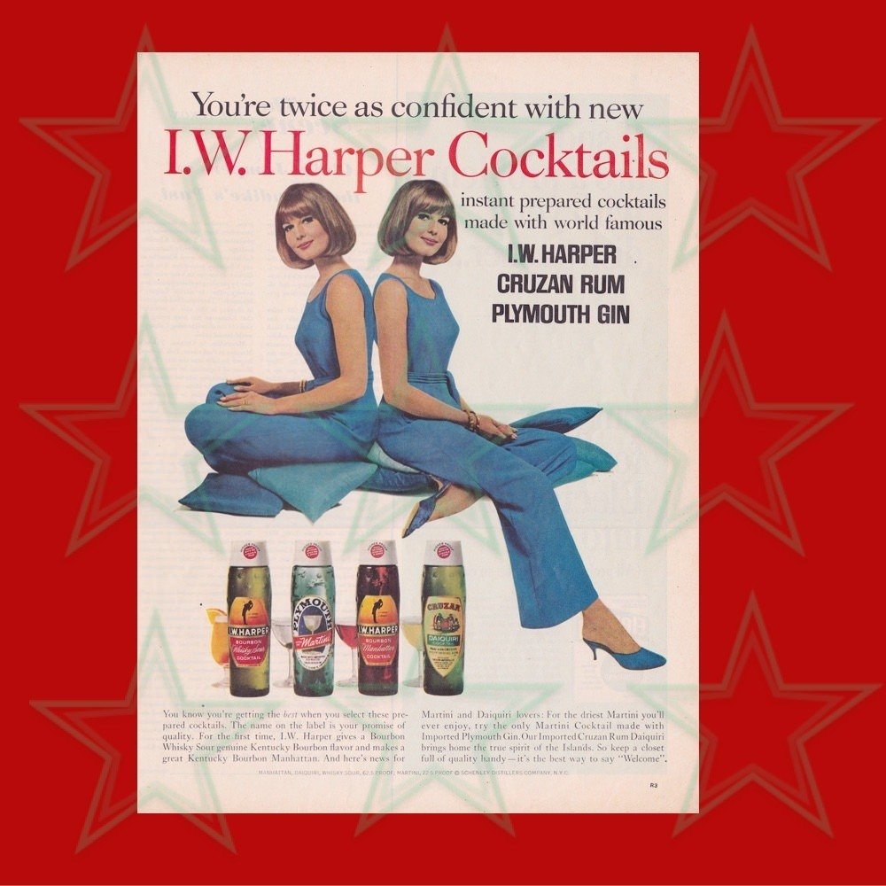 Harper Cocktails Ad - Twins - Original Advertisement 00617