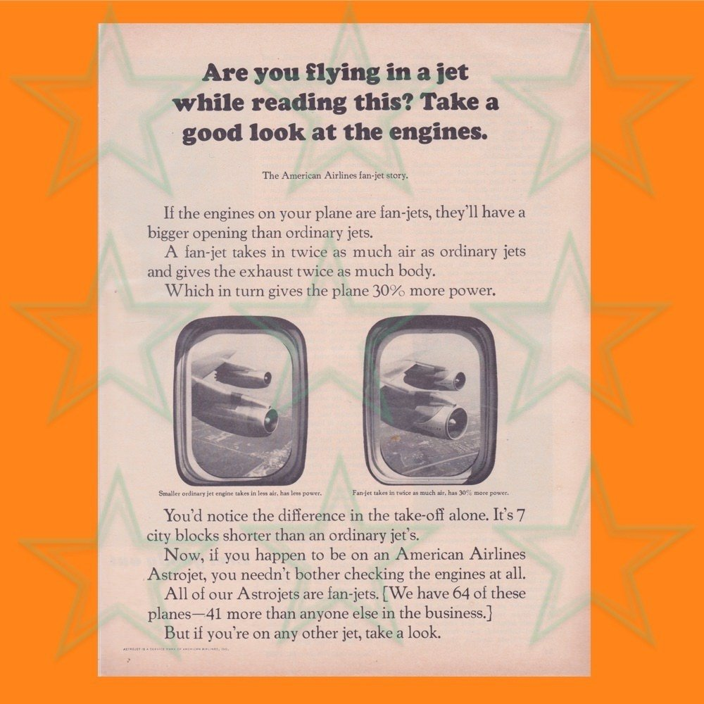 American Airlines Magazine Ad - Fanjets - Aviation - Original Ad 00604