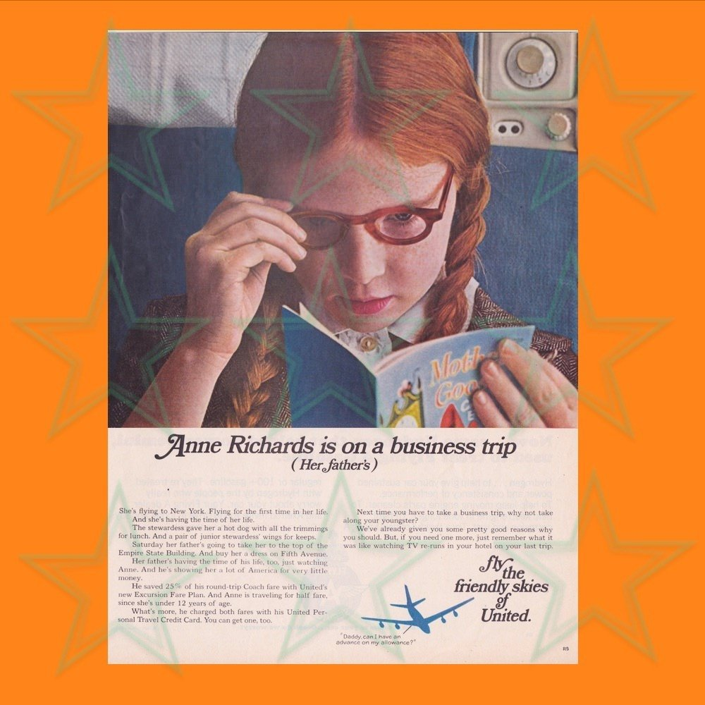 """United Airlines """"Business Trip"""" Advertisement 00610"""