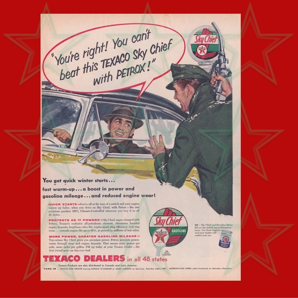 Texaco Sky Chief with Petrox Advertisement 1950's 00611