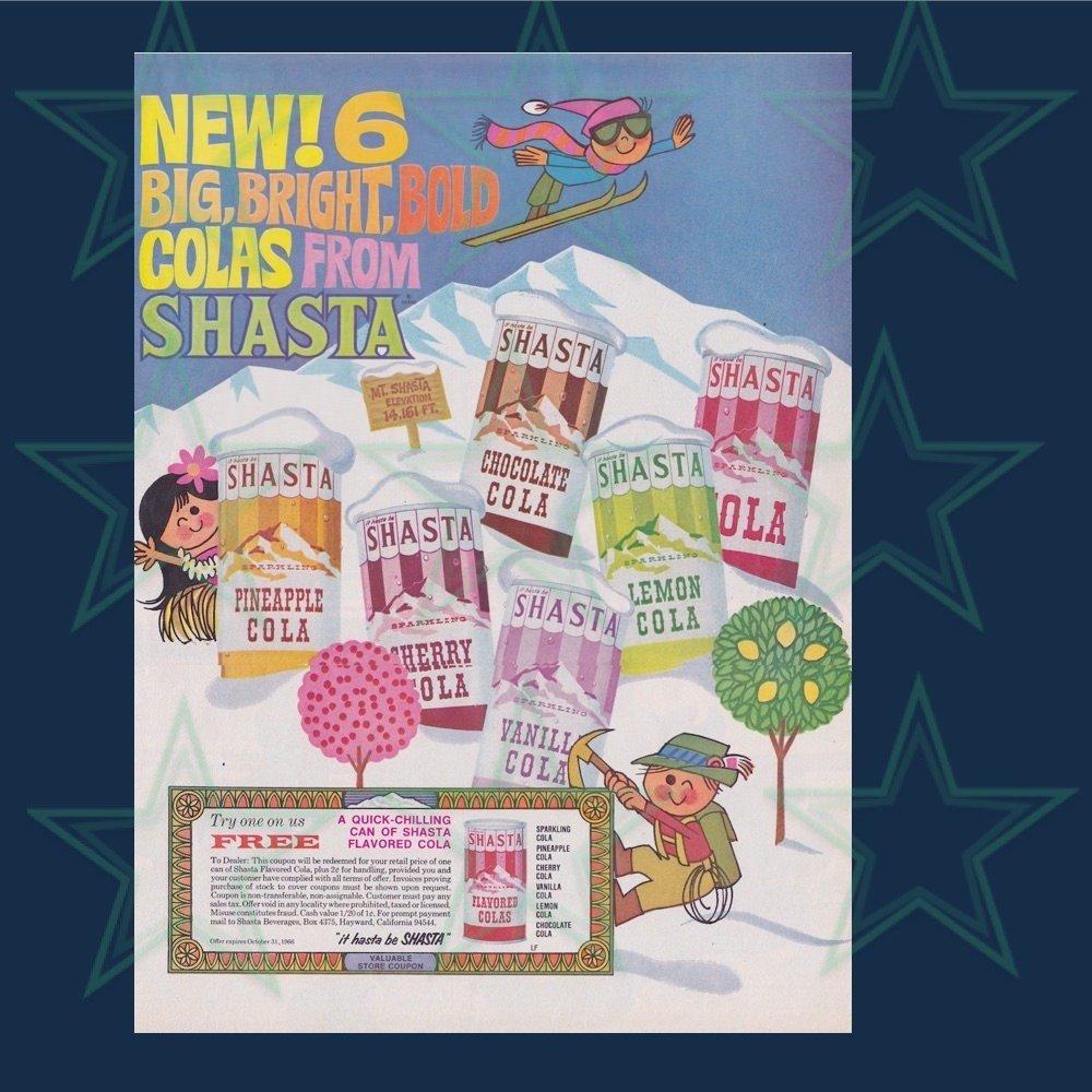 Shasta Advertisement Bright Bold Colas Original Ad 1960's 00620