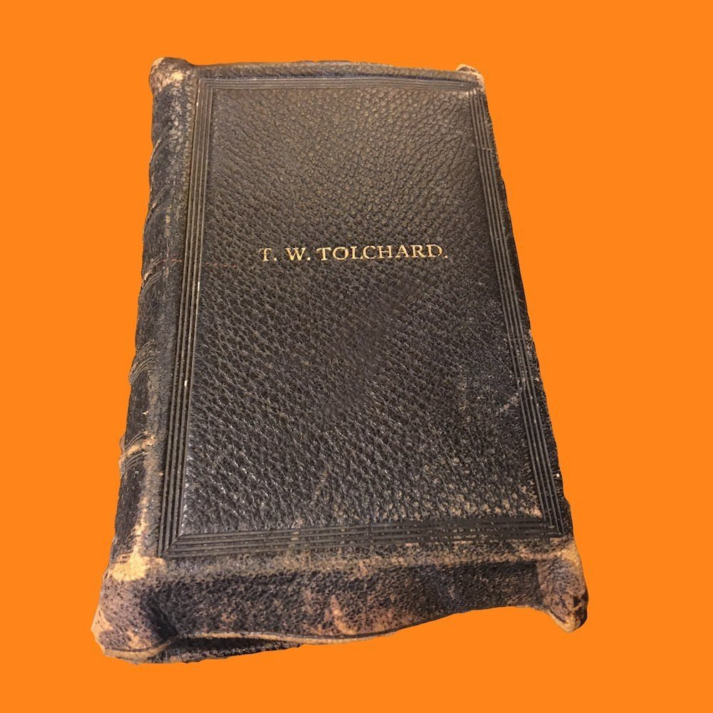 19th C. Bible Teacher's Edition Embossed T.W. Tolchard 00396