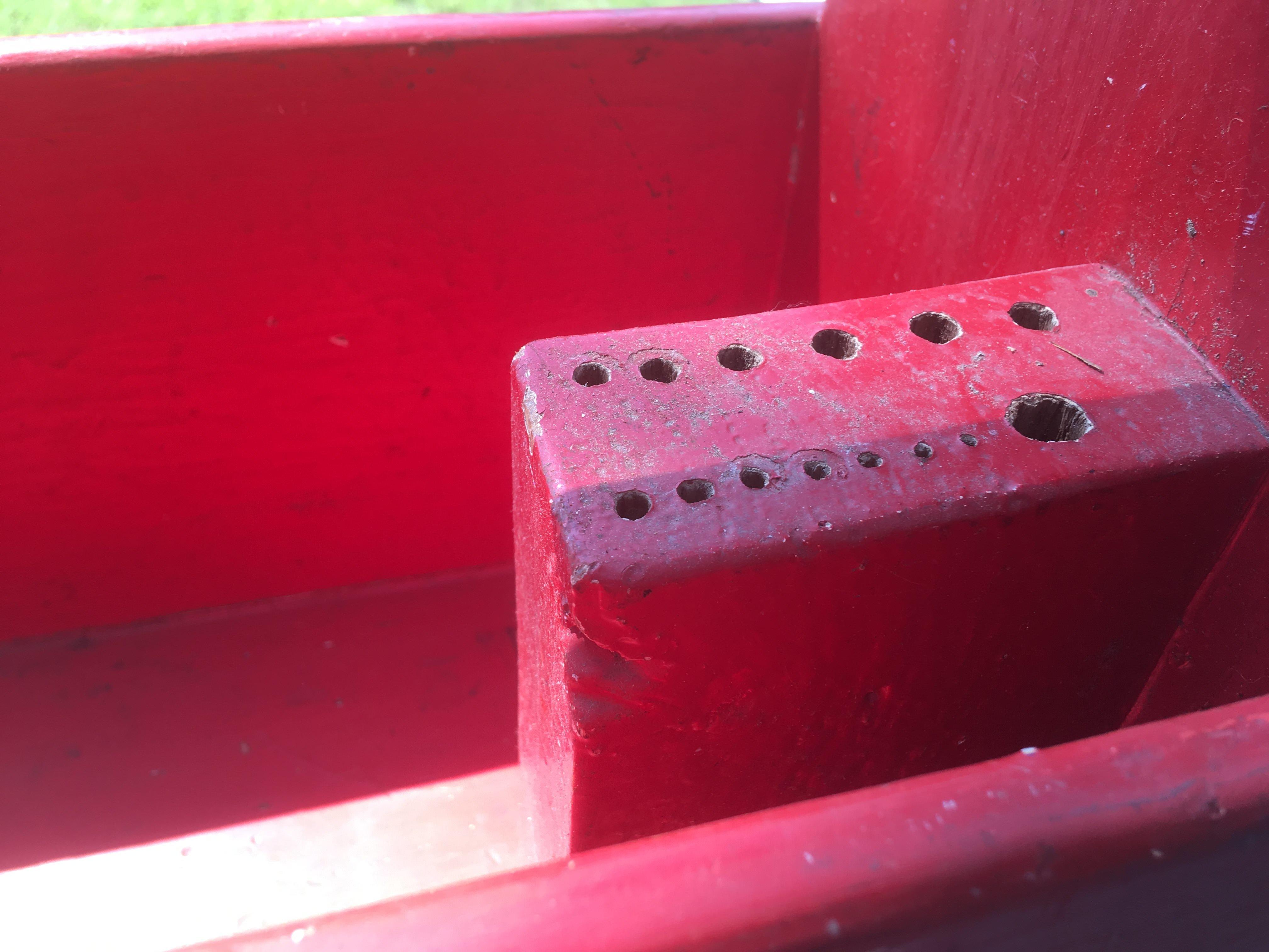 "32"" Long Red Tool Box Tote Box Farmhouse Decor Planter"