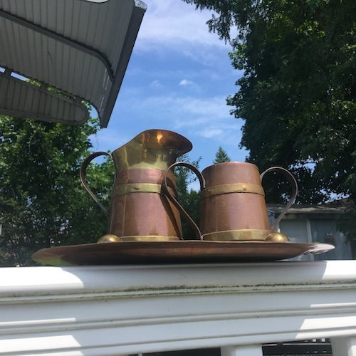 copper and brass set in the sun