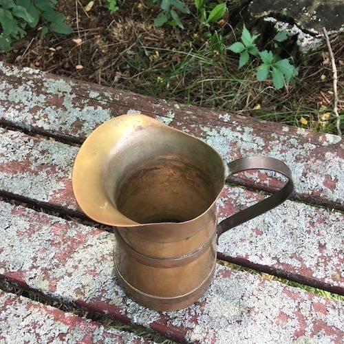 copper and brass creamer