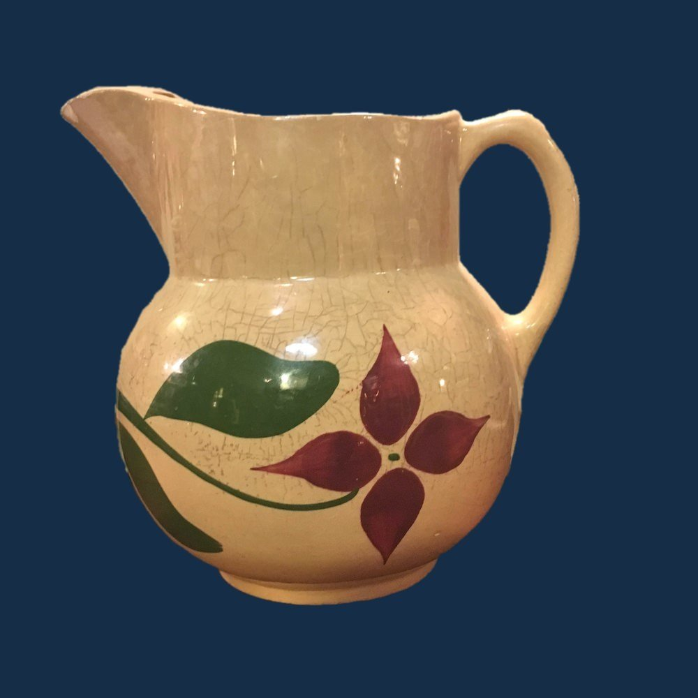 Watt Pottery Starflower No. 17 Pitcher Rustic AS IS 00880