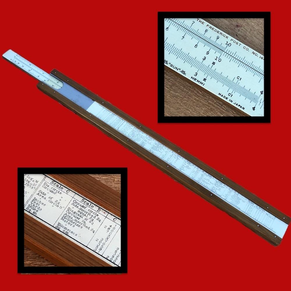 Frederick Post Slide Rule 1446 Made in Japan by Hemmi 01605