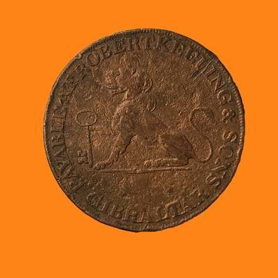 Robert Keeling & Sons Two Quartos Coin Trading Token