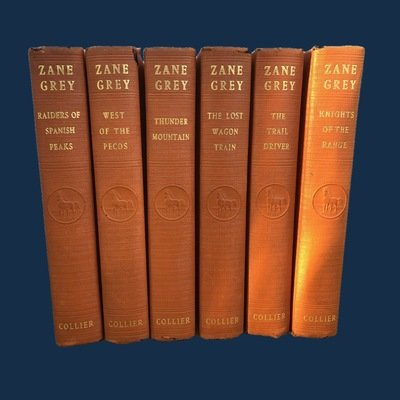Zane Grey Western Adventure Book Set 1930's