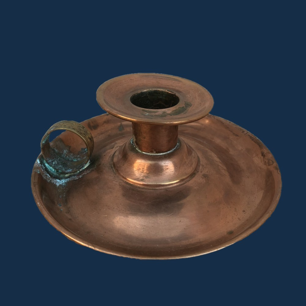 Vintage/ Antique Copper and Brass Finger Candle Holder 01643